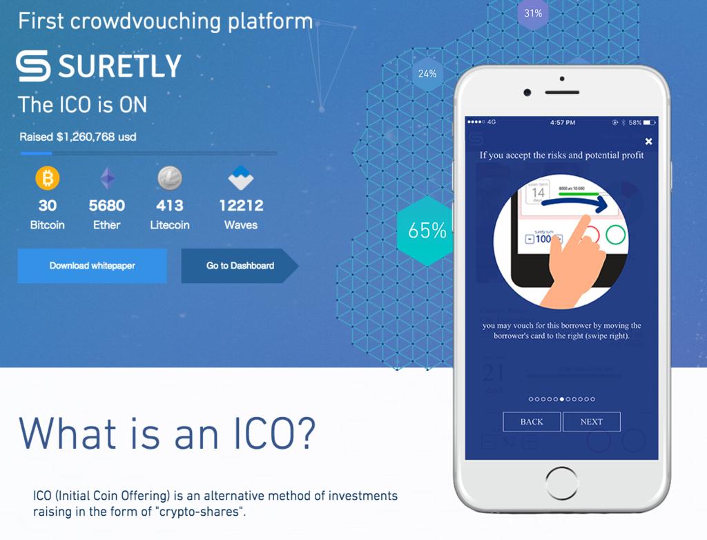 【ICO】マイクロファイナンス市場を狙うSuretlyのICOに参加しました